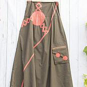 Одежда ручной работы. Ярмарка Мастеров - ручная работа Юбка длинная Оранж. Handmade.