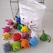 Куклы и игрушки handmade. Livemaster - original item Mouse in cat. Learn the invoice and color with the kids.. Handmade.