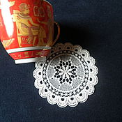 Для дома и интерьера handmade. Livemaster - original item Lace doilies(stand glass)