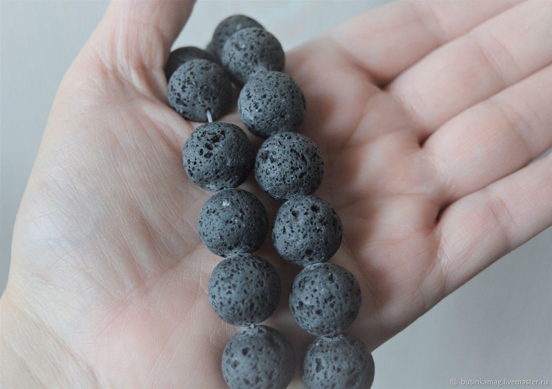 Lava volcanic beads 6 sizes, Beads1, Zheleznodorozhny,  Фото №1