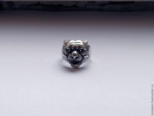 """Кольца ручной работы. Ярмарка Мастеров - ручная работа. Купить Серебряное кольцо """"Тигр"""". Handmade. Серебряный, кошка, печатка"""