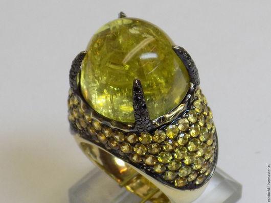 """Кольца ручной работы. Ярмарка Мастеров - ручная работа. Купить Кольцо """"Инопланетный мир"""". Handmade. Лимонный, желтые, желтое золото"""