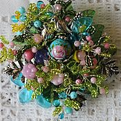Украшения handmade. Livemaster - original item Brooch with Japanese bead tensha the rose rose in the sky. Handmade.