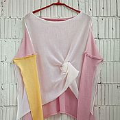 Одежда ручной работы. Ярмарка Мастеров - ручная работа КН_003_ШАБел Блузон 3-хцветный. Handmade.