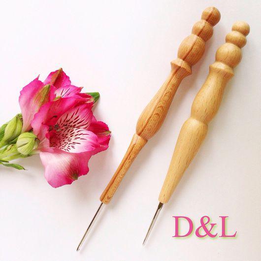 Вязание ручной работы. Ярмарка Мастеров - ручная работа. Купить Крючок с деревянной резной ручкой. Handmade. Крючком, крючки металлические