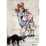 Картины и панно handmade. Livemaster - original item Embroidered satin stitch painting