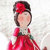Куклы и игрушки ручной работы. Ярмарка Мастеров - ручная работа Ангел нарядный в красном. Handmade.
