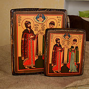 Картины и панно handmade. Livemaster - original item The icons of Peter and Fevronia. Handmade.