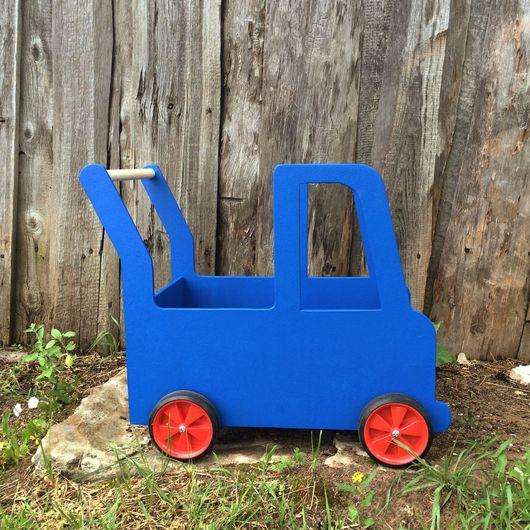 Развивающие игрушки ручной работы. Ярмарка Мастеров - ручная работа. Купить Машинка-каталка для детей. Handmade. Экоигрушки, машинка из дерева