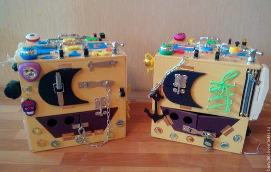 Развивающие игрушки ручной работы. Ярмарка Мастеров - ручная работа. Купить Бизиборд - бизибокс. Handmade. Бежевый, бизиборд на заказ, бизибокс