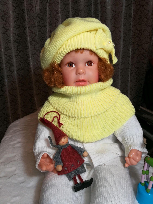 Комплект для девочки. Шапка и снуд, Комплекты одежды для малышей, Москва,  Фото №1
