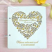 Свадебный салон handmade. Livemaster - original item Wooden wish book with gold engraving. Handmade.