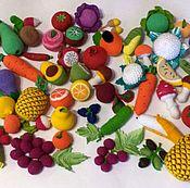Кукольная еда ручной работы. Ярмарка Мастеров - ручная работа Вязаная еда. фрукты. овощи. Handmade.