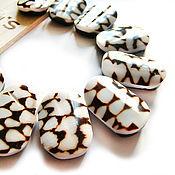 Материалы для творчества handmade. Livemaster - original item Beads shell Cone Marble with 2 holes. Handmade.