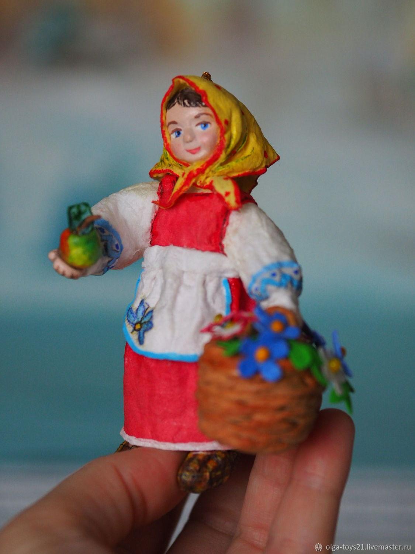 "Елочная игрушка из ваты-""Анюта"", Мягкие игрушки, Москва,  Фото №1"