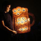 Дизайн и реклама ручной работы. Ярмарка Мастеров - ручная работа Кружка пива. Handmade.