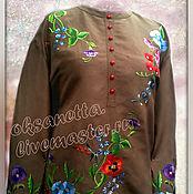 Одежда handmade. Livemaster - original item Blouse with embroidery.. Handmade.