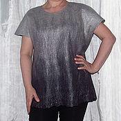 "Одежда ручной работы. Ярмарка Мастеров - ручная работа Туника валяная ""Серый градиент"". Handmade."