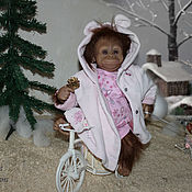 Куклы и игрушки ручной работы. Ярмарка Мастеров - ручная работа Bindi 2 , реборн-примат из одноименного молда.. Handmade.