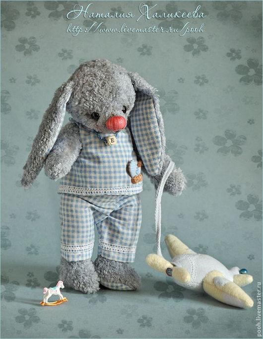 """Мишки Тедди ручной работы. Ярмарка Мастеров - ручная работа. Купить ЭКО-зайка малыш """"ЖЕНЕЧКА"""" (ЛЮБИМАЯ ИГРУШКА). Handmade."""