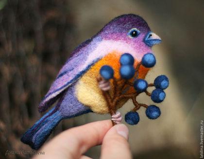 """Броши ручной работы. Ярмарка Мастеров - ручная работа. Купить Брошь """"Птица-сентябринка"""". Handmade. Брошь, подарки, брошь птица"""