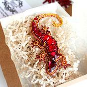 Украшения handmade. Livemaster - original item Brooch-pin: Fire Salamander. Handmade.
