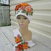 Аксессуары handmade. Livemaster - original item Hat mittens with hand embroidery. Handmade.
