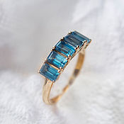 Украшения handmade. Livemaster - original item Gold ring with natural Swiss Topaz