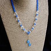 Украшения handmade. Livemaster - original item Necklace 925 Silver rhinestone. Handmade.