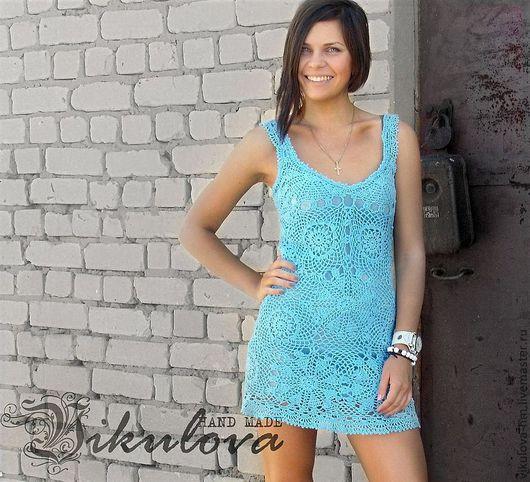 """Платья ручной работы. Ярмарка Мастеров - ручная работа. Купить Сарафан """"Небо"""". Handmade. Голубой, платье на бретелях"""