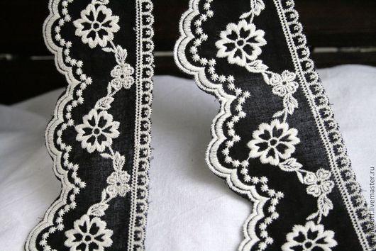 Шитье ручной работы. Ярмарка Мастеров - ручная работа. Купить № 130  Кружевное черно - белое шитье.. Handmade.