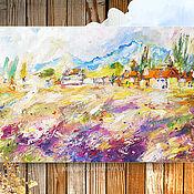 """Картины и панно ручной работы. Ярмарка Мастеров - ручная работа Картина маслом """"Чувства вытканные рожью спелой"""" 60/40 см. Handmade."""