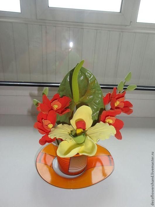 """Цветы ручной работы. Ярмарка Мастеров - ручная работа. Купить Букет """"Доброе день"""". Handmade. Цветы, цветы из полимерной глины"""