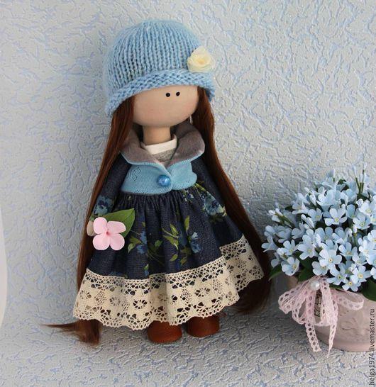 Человечки ручной работы. Ярмарка Мастеров - ручная работа. Купить кукла. Handmade. Кукла интерьерная, игрушка ручной работы, синий