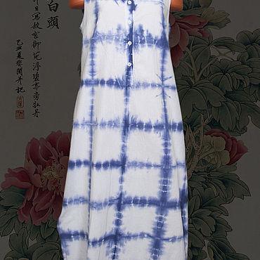"""Одежда ручной работы. Ярмарка Мастеров - ручная работа Туника """"Shibori #0073"""". Handmade."""