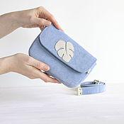 Поясная сумка ручной работы. Ярмарка Мастеров - ручная работа Женская поясная сумка из ткани с декором Монстера. Handmade.
