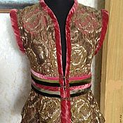 """Одежда ручной работы. Ярмарка Мастеров - ручная работа Жилет из парчи """"Роскошь"""". Handmade."""