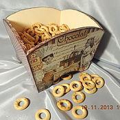 """Для дома и интерьера ручной работы. Ярмарка Мастеров - ручная работа Сухарница-конфетница """"Сладкие детки`. Handmade."""