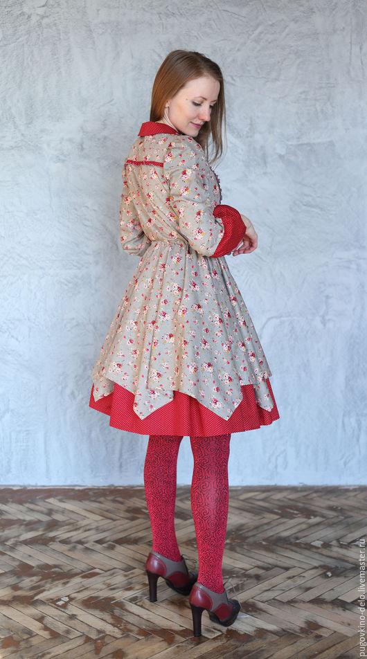 Платья ручной работы. Ярмарка Мастеров - ручная работа. Купить Платье из хлопка Романтическое настроение. Handmade. Романтический стиль, серый