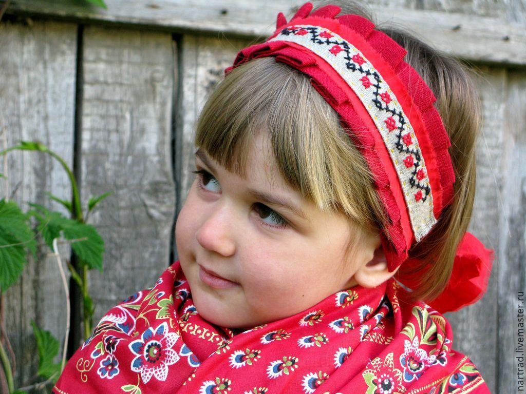Повязка на голову в русском народном стиле своими руками