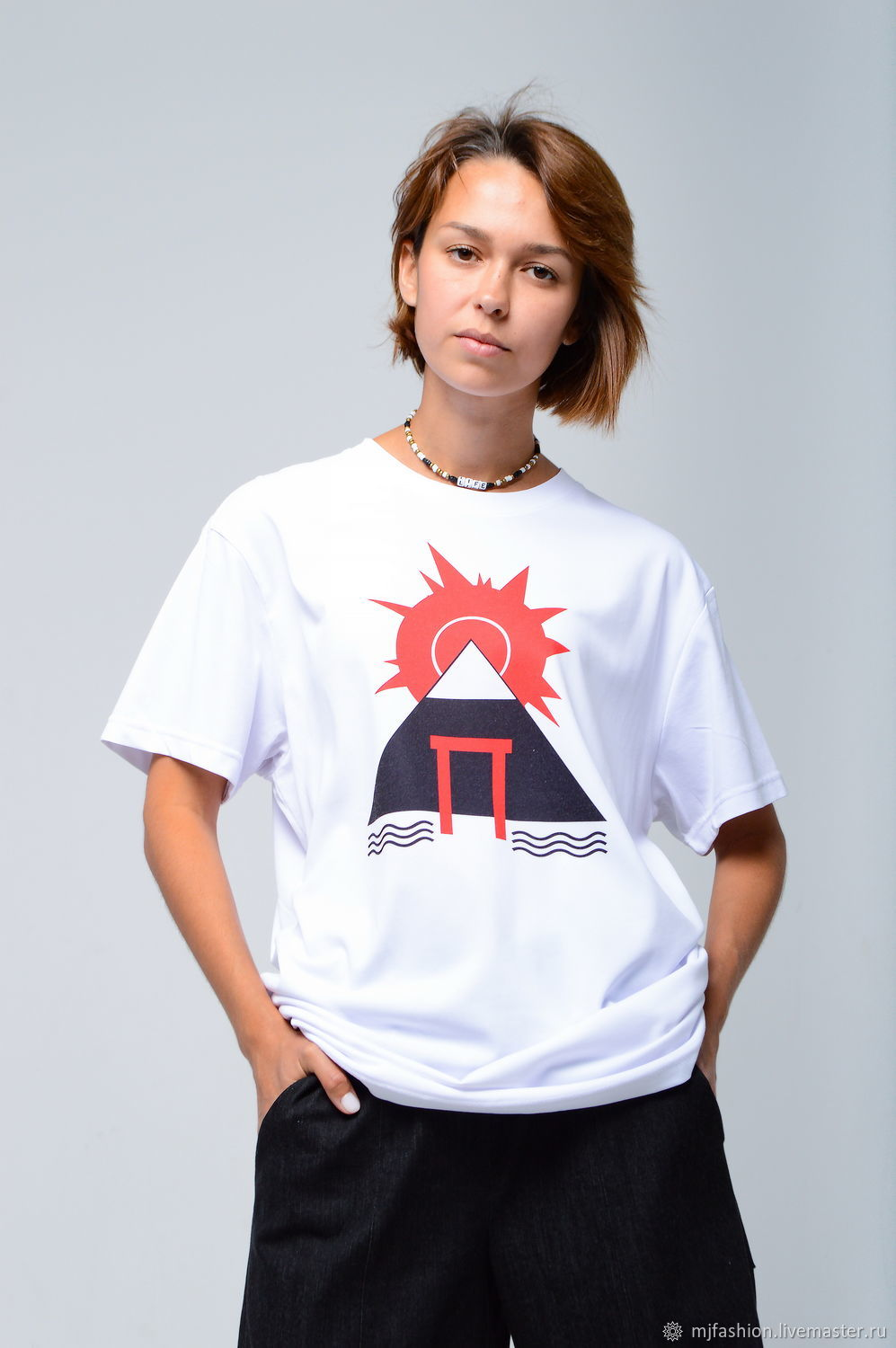 T-shirt with the author's print ' Fuji', T-shirts, Omsk,  Фото №1
