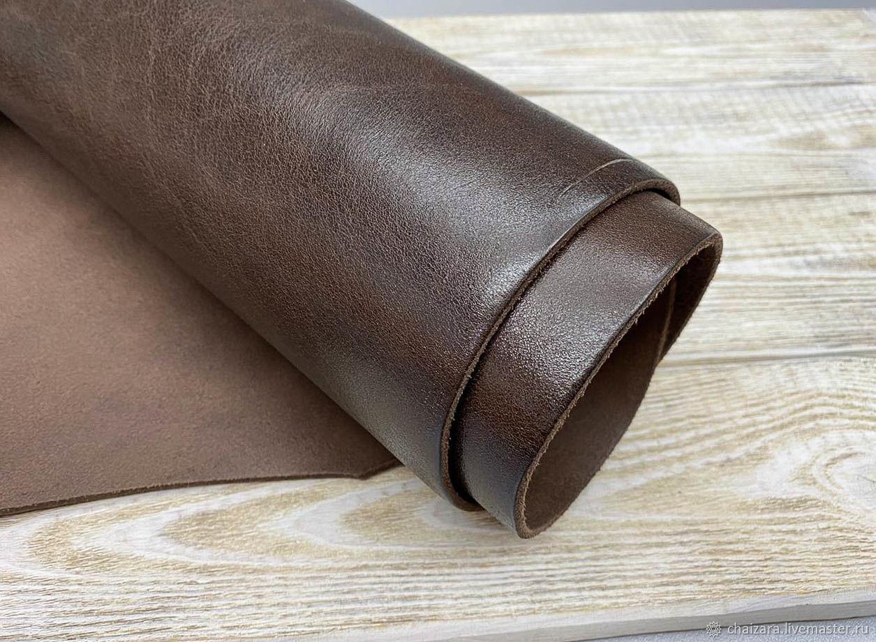 Ременная кожа 3.6-3.8 мм New Palaia Brown, Кожа, Оренбург,  Фото №1