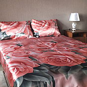 Для дома и интерьера ручной работы. Ярмарка Мастеров - ручная работа Комплект постельного белья Розовый букет. Handmade.