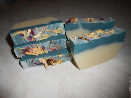 Мыло ручной работы. Ярмарка Мастеров - ручная работа. Купить Натуральное мыло на белой глине. Handmade. Комбинированный, мыло с глиной