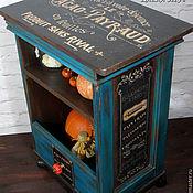 """Для дома и интерьера ручной работы. Ярмарка Мастеров - ручная работа """"Французское кафе"""" тумба-островок на колесах. Handmade."""