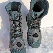 Обувь ручной работы handmade. Livemaster - original item boots: Winter boots. Handmade.