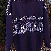 Одежда ручной работы. Ярмарка Мастеров - ручная работа Жаккардовый свитер. Handmade.
