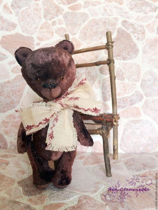 Мишки Тедди ручной работы. Ярмарка Мастеров - ручная работа. Купить Мини мишка тедди Брусничка. Handmade. Мишка