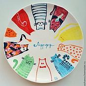 Посуда ручной работы. Ярмарка Мастеров - ручная работа Керамические тарелочки 15 см. Handmade.