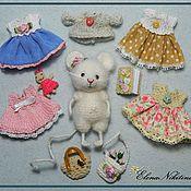 Куклы и игрушки ручной работы. Ярмарка Мастеров - ручная работа Мышка с одёжкой. Handmade.
